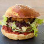 Le burger au boudin noir